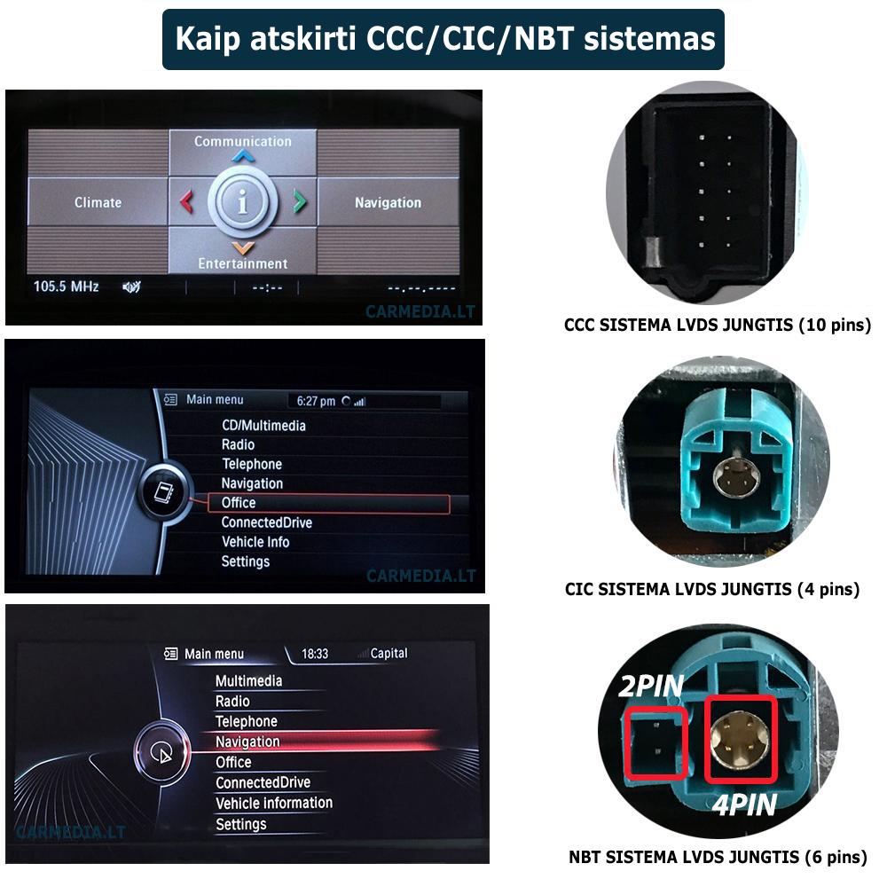 kaip atskirti nbt, cic ir ccc sistemas